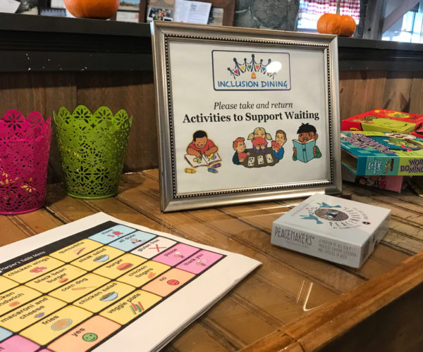 Inclusion Dining at Harper's Table
