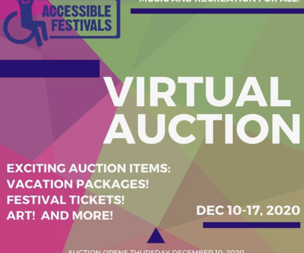 Accessible Festivals Supports People With Disabilities With Virtual Auction